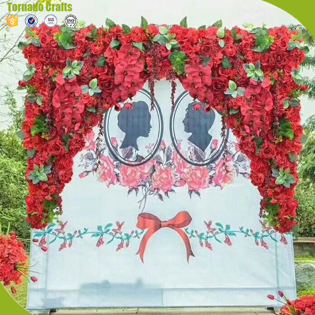 Artificial flower wall decoration productguangzhou zhen xin qi diy artificial cloth mini rose flower wall decoration party wedding decoration backdrop creative hotel background wall decor junglespirit Gallery